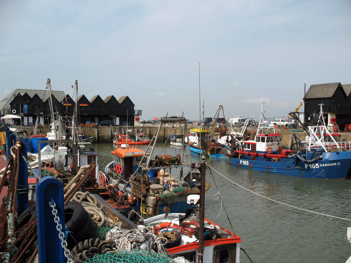 Whitstable Harbour, Kent, England