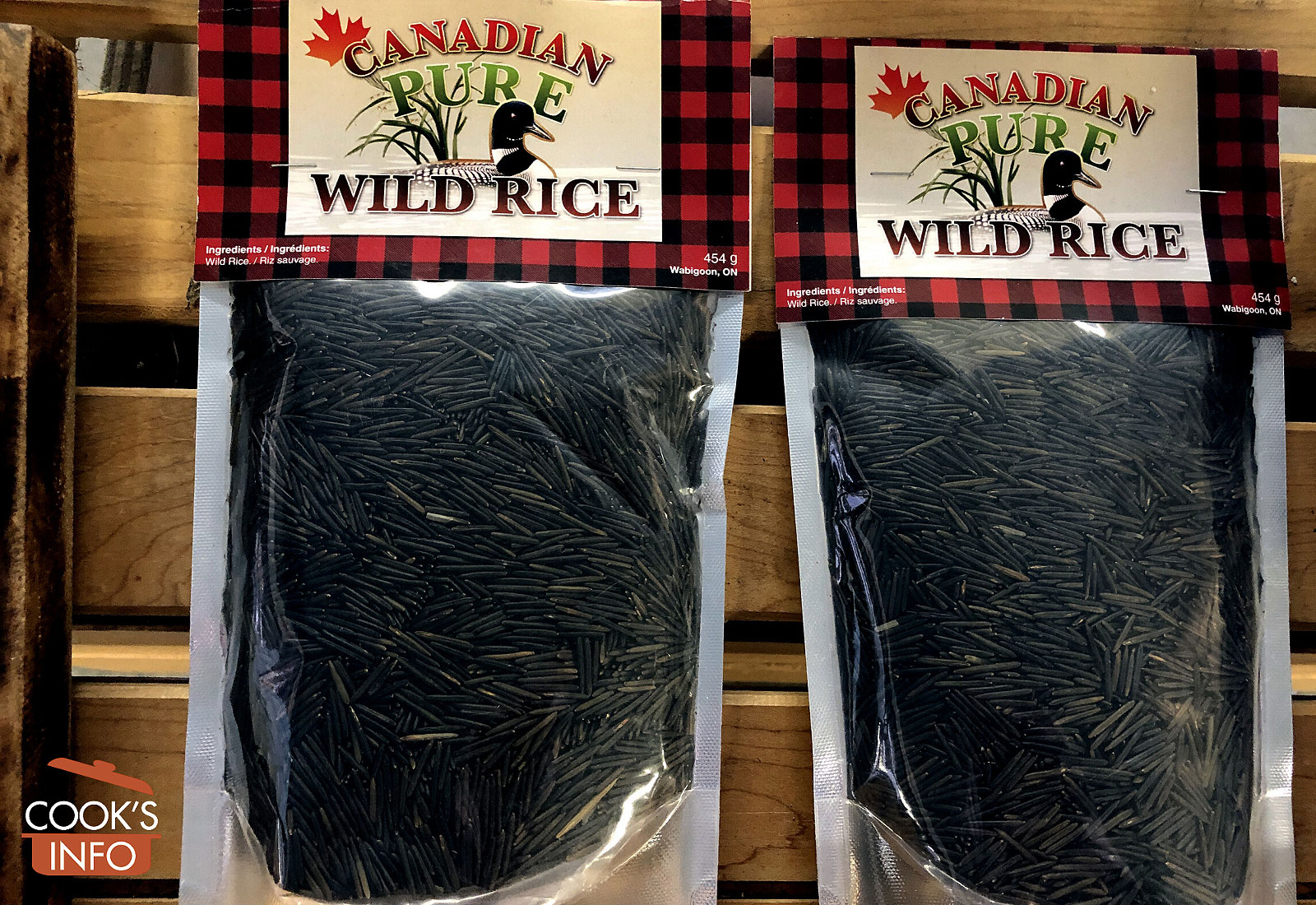 Wild rice in bags