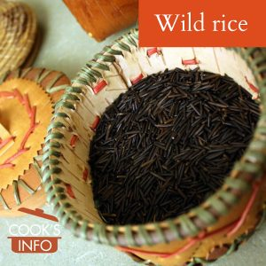 Wild rice in basket