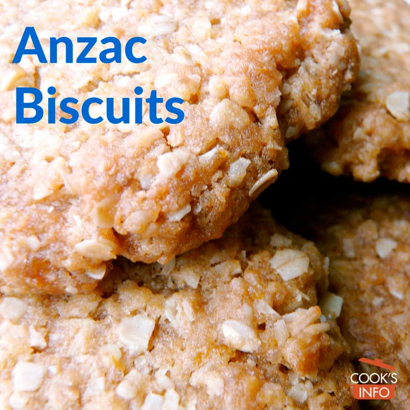 Anzac Biscuits close-up