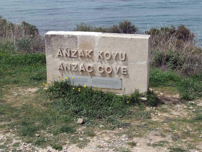 Anzac Cove sign at Gallipoli