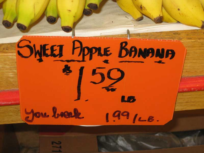 Apple Bananas sign