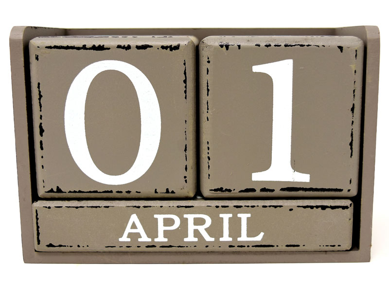 April 1st Calendar