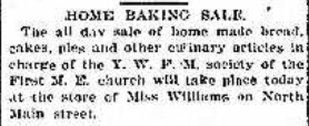 Bake sale Illinois 1899
