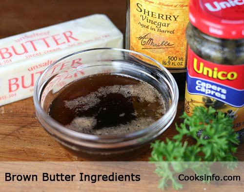 Brown Butter ingredients