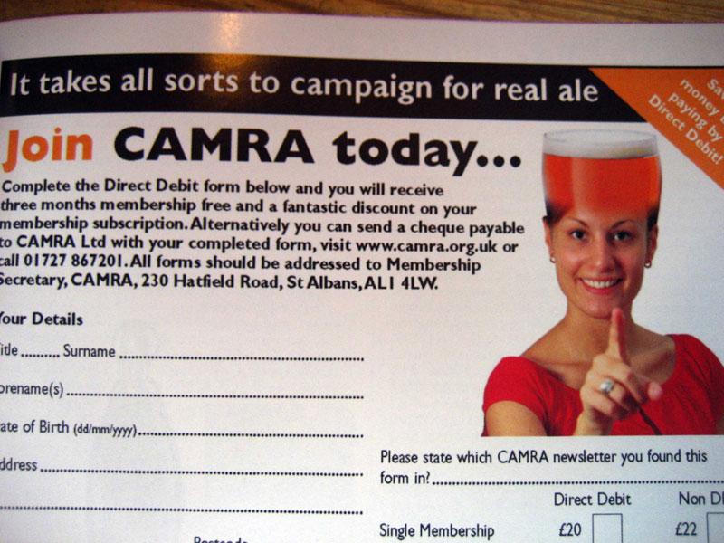 CAMRA membership card