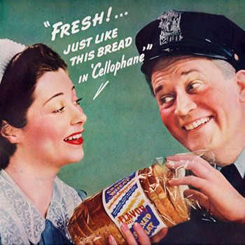 Cellophane bread advertisement 1940