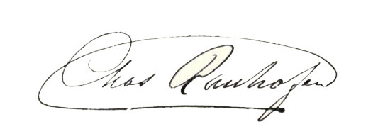 Charles Ranhofer Signature