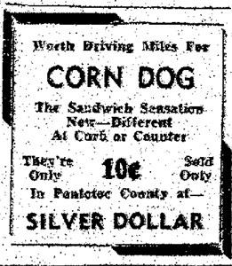 1940 Corn Dog Advertisement
