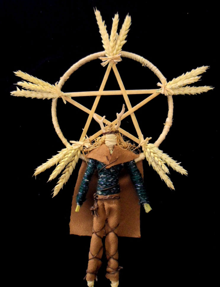 Male corn dolly representing the Celtic sun God Lugh