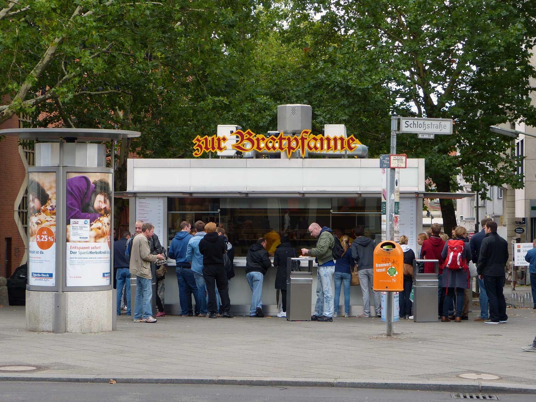 Currywurst stand, corner of Schloßstraße and Kieler Straße, Berlin