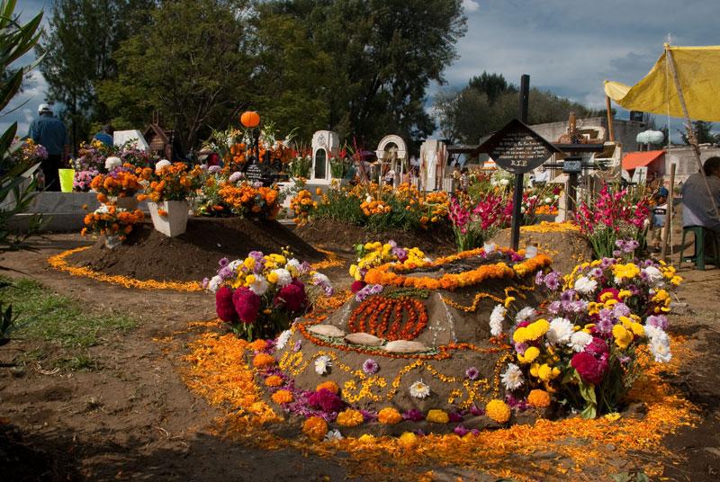Day of the Dead Tecomitl Cemetery