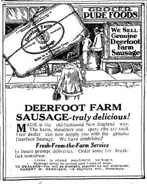 Deerfoot Sausage Ad