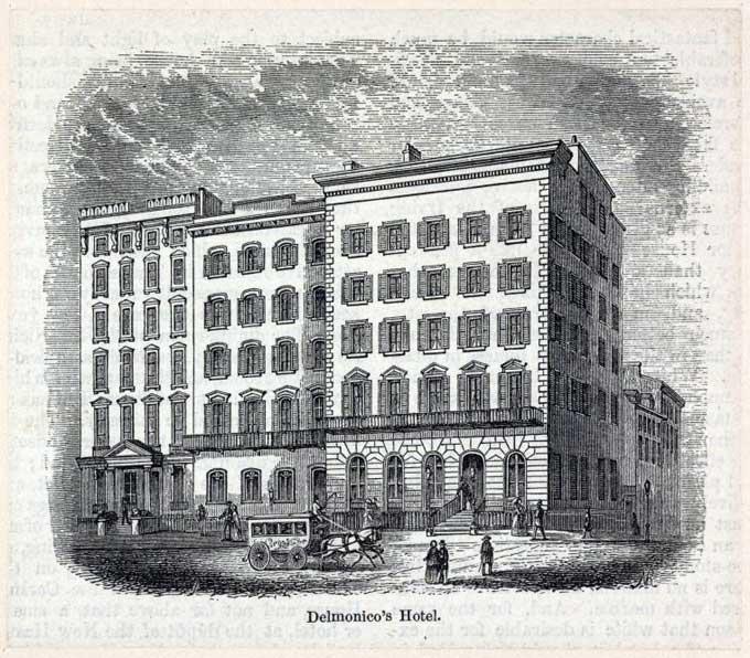 Delmonico Hotel opened 1834