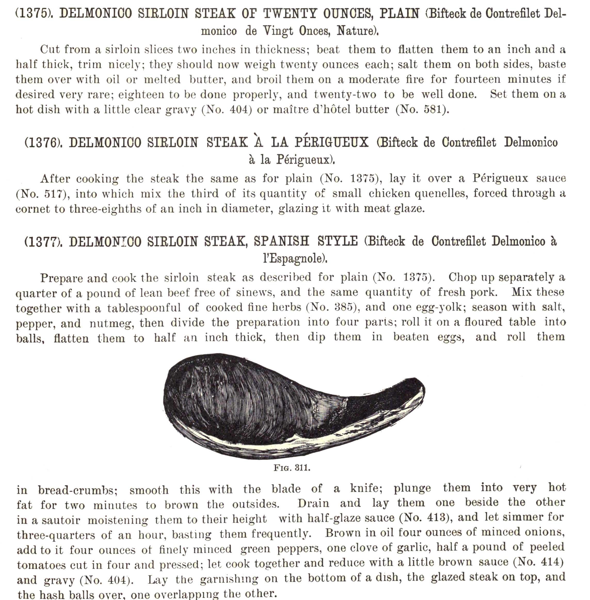 Delmonico large sirloin