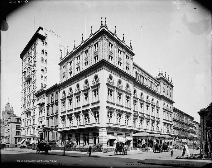 Delmonico's. North-east corner of 44th and Fifth Avenue, NYC, 1903.