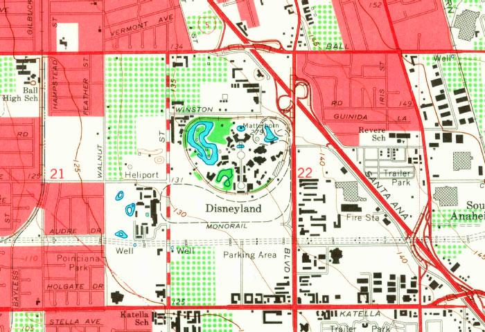 Disneyland Map 1955
