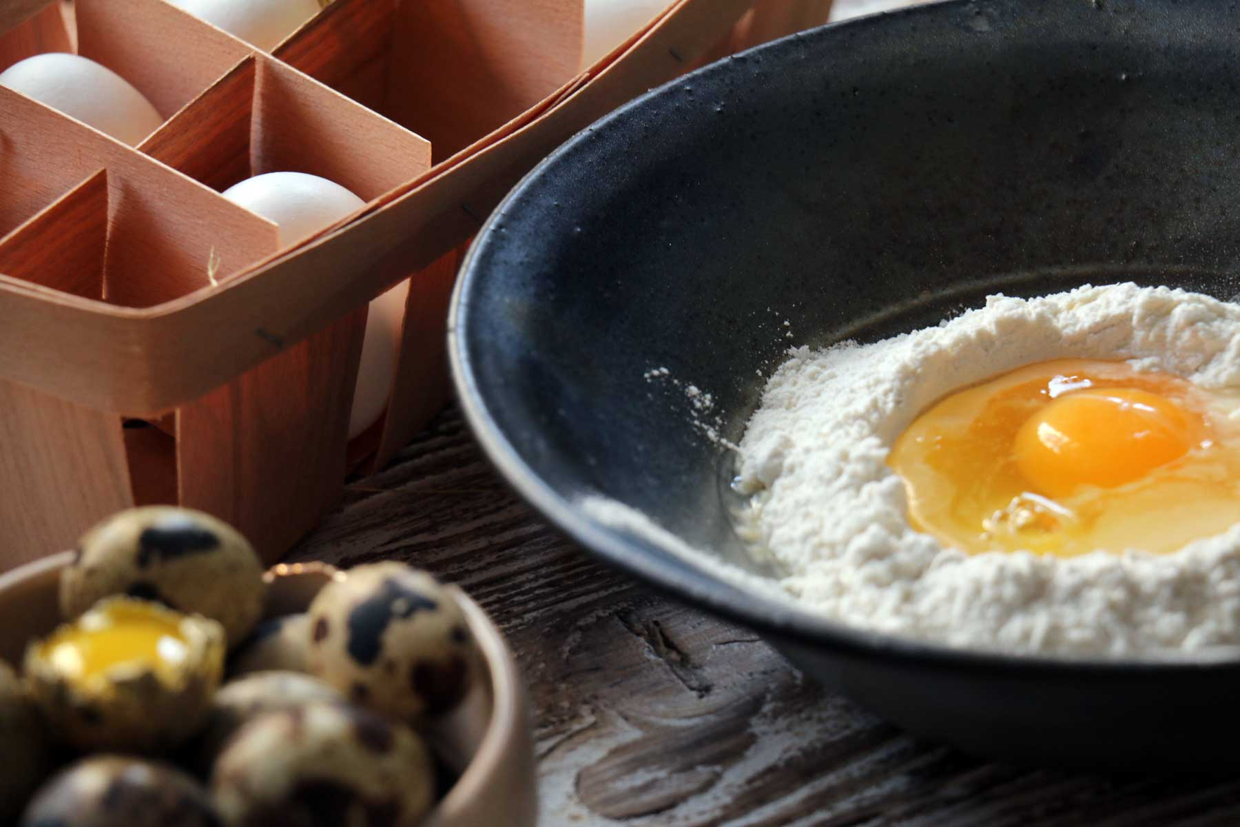 Eggs being used in baking