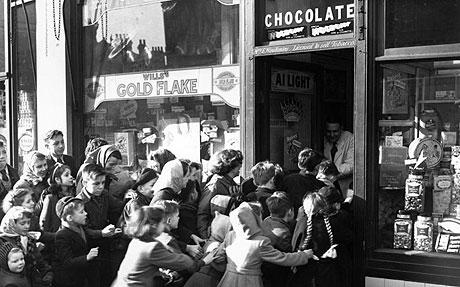 End of sweets rationing UK 1953