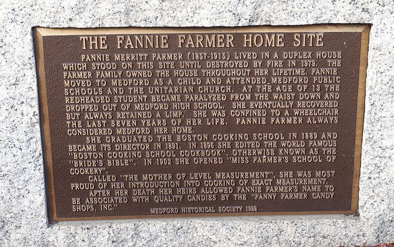 Historical marker where the farmer home was