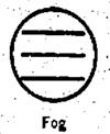 US Weather Bureau. Fog Symbol. 1942