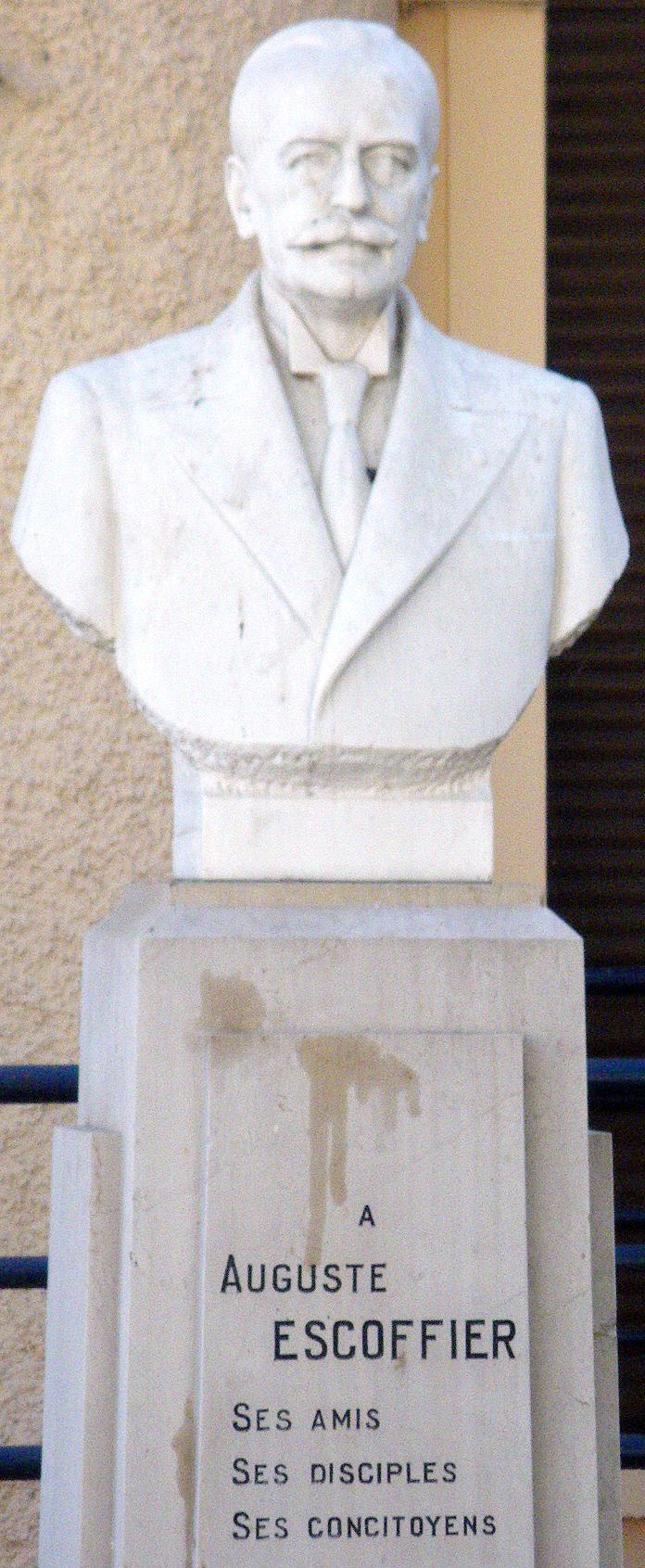 Georges Auguste Escoffier bust