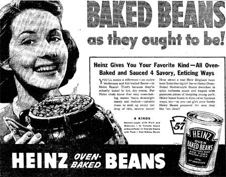 American Heinz Beans 1939
