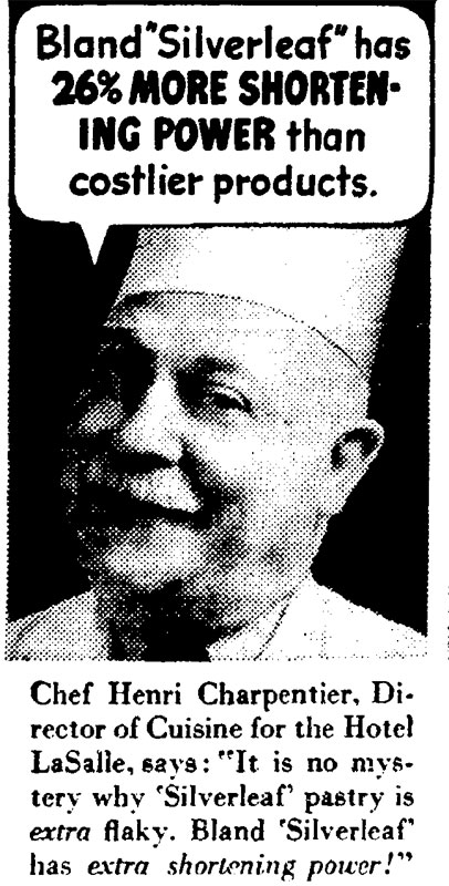 Silverleaf Shortening Henri Charpentier