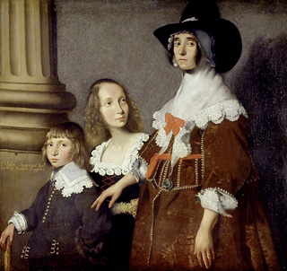 Hester Pooks with her stepchildren John and Frances