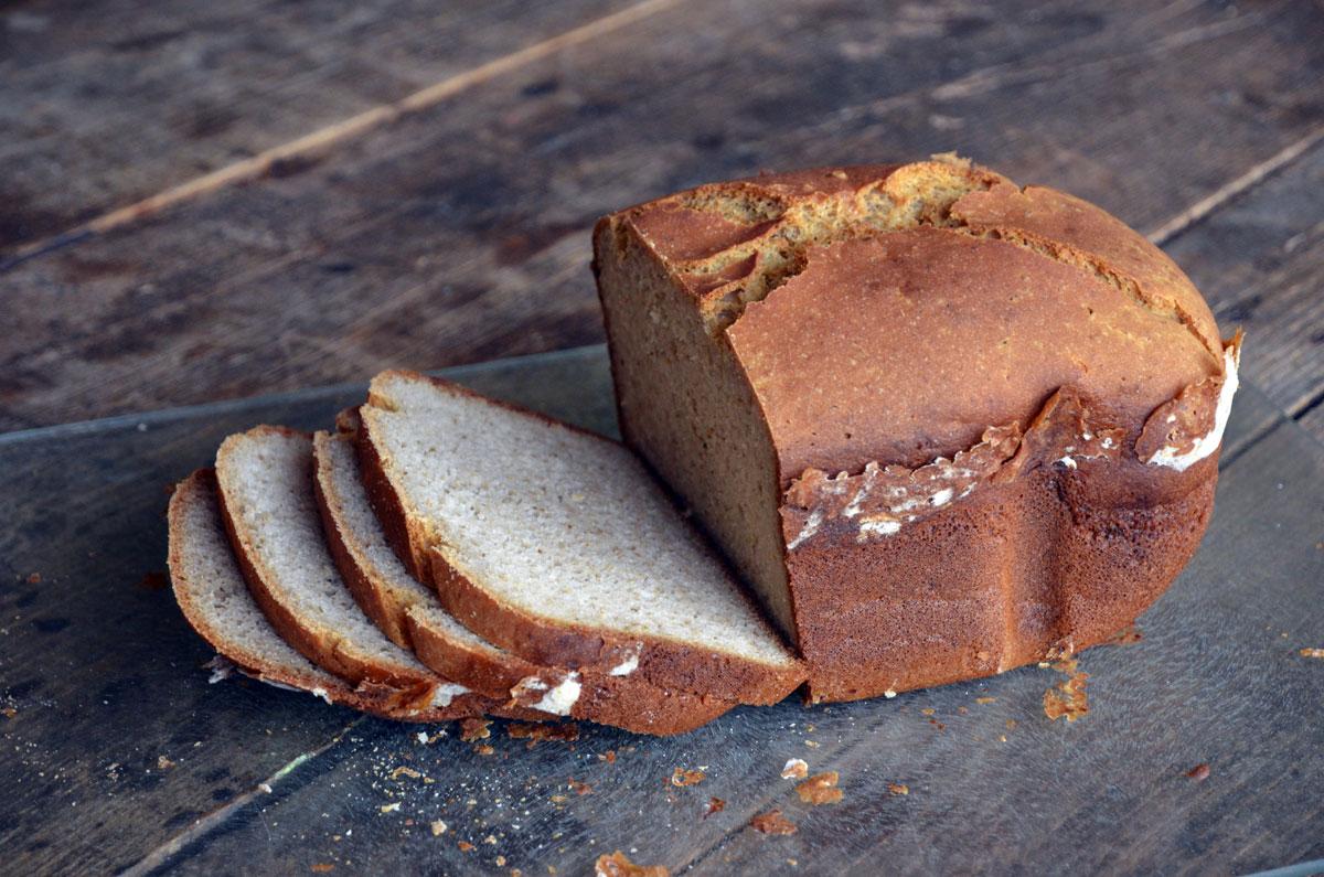 Sliced homemade bread
