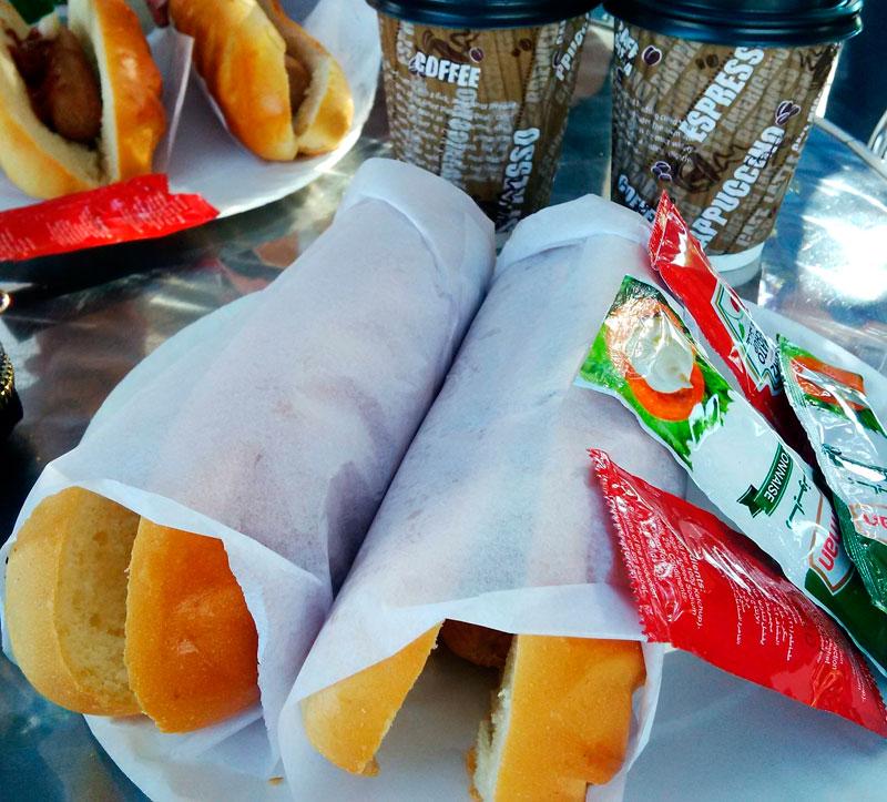Hotdogs ready to go