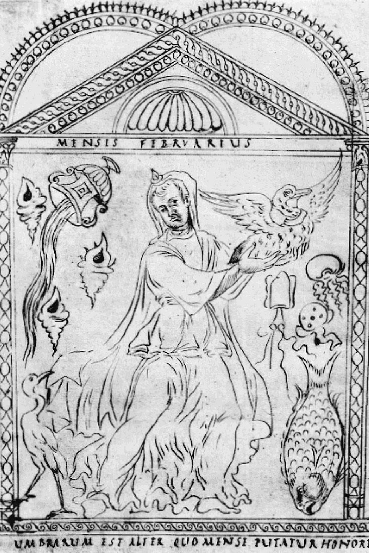 February in 4th century calendar