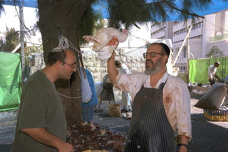 Kaparot street butcher