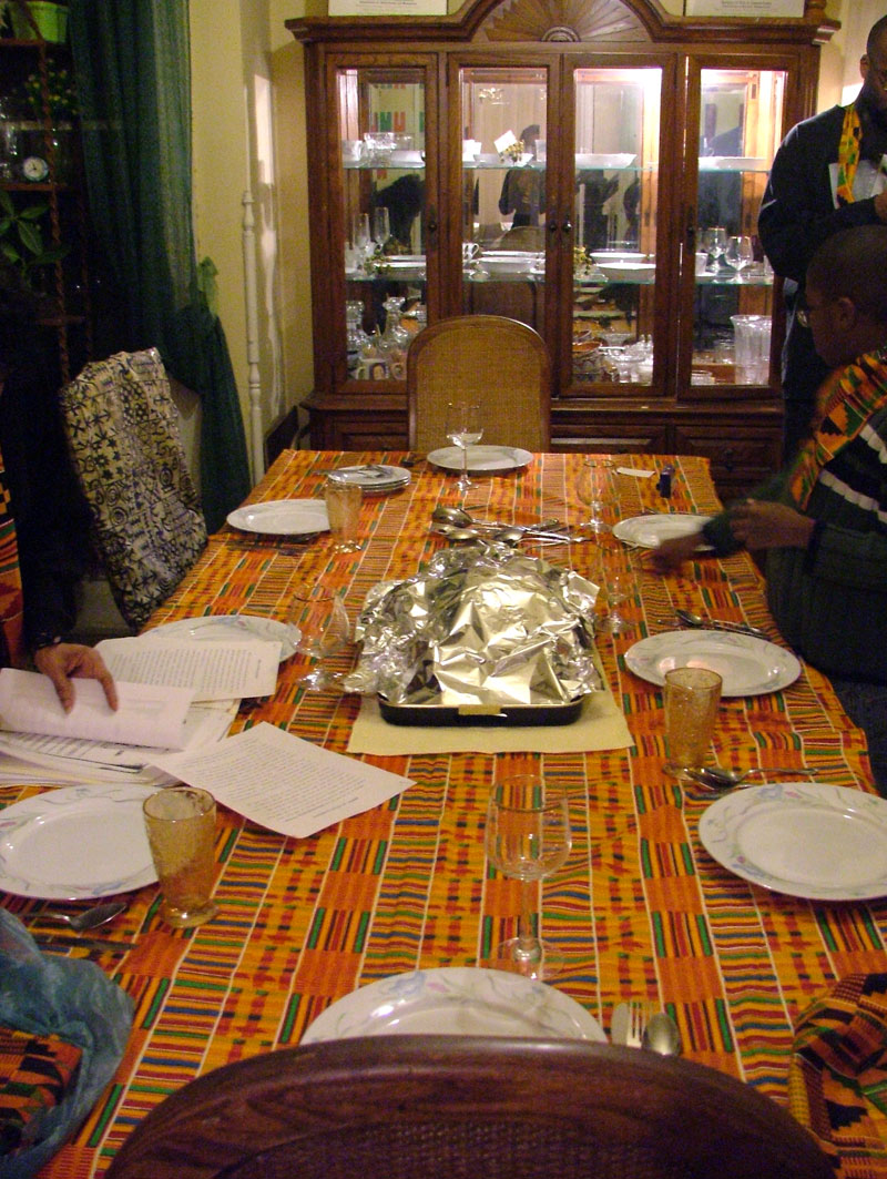 Kwanzaa dining table