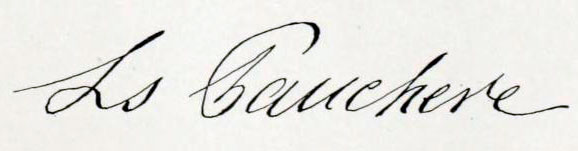 Louis Fauchere Signature