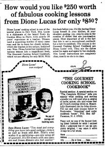 The Gourmet Cooking School Cookbook by Dione Lucas