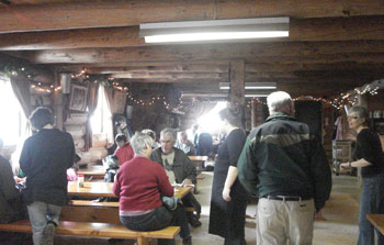 Inside Maple Syrup Cabin