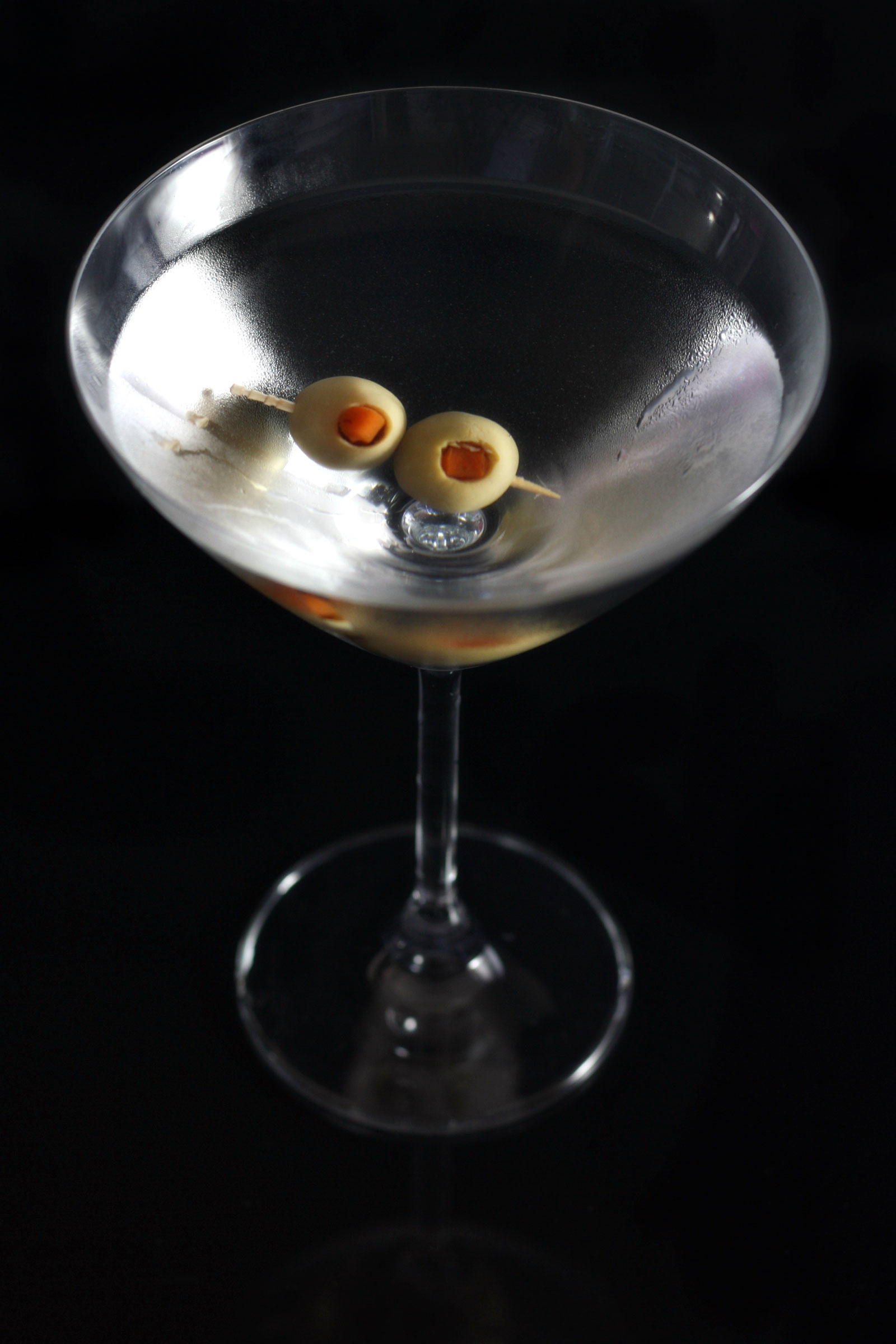 Martini with two olives