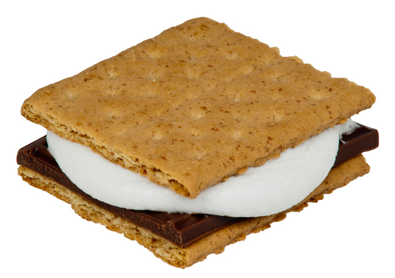 Microwaved s'more