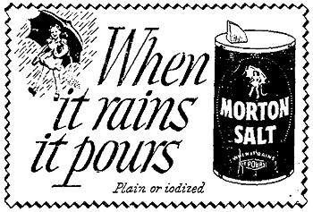 Morton Freeflowing Salt Ad 1951