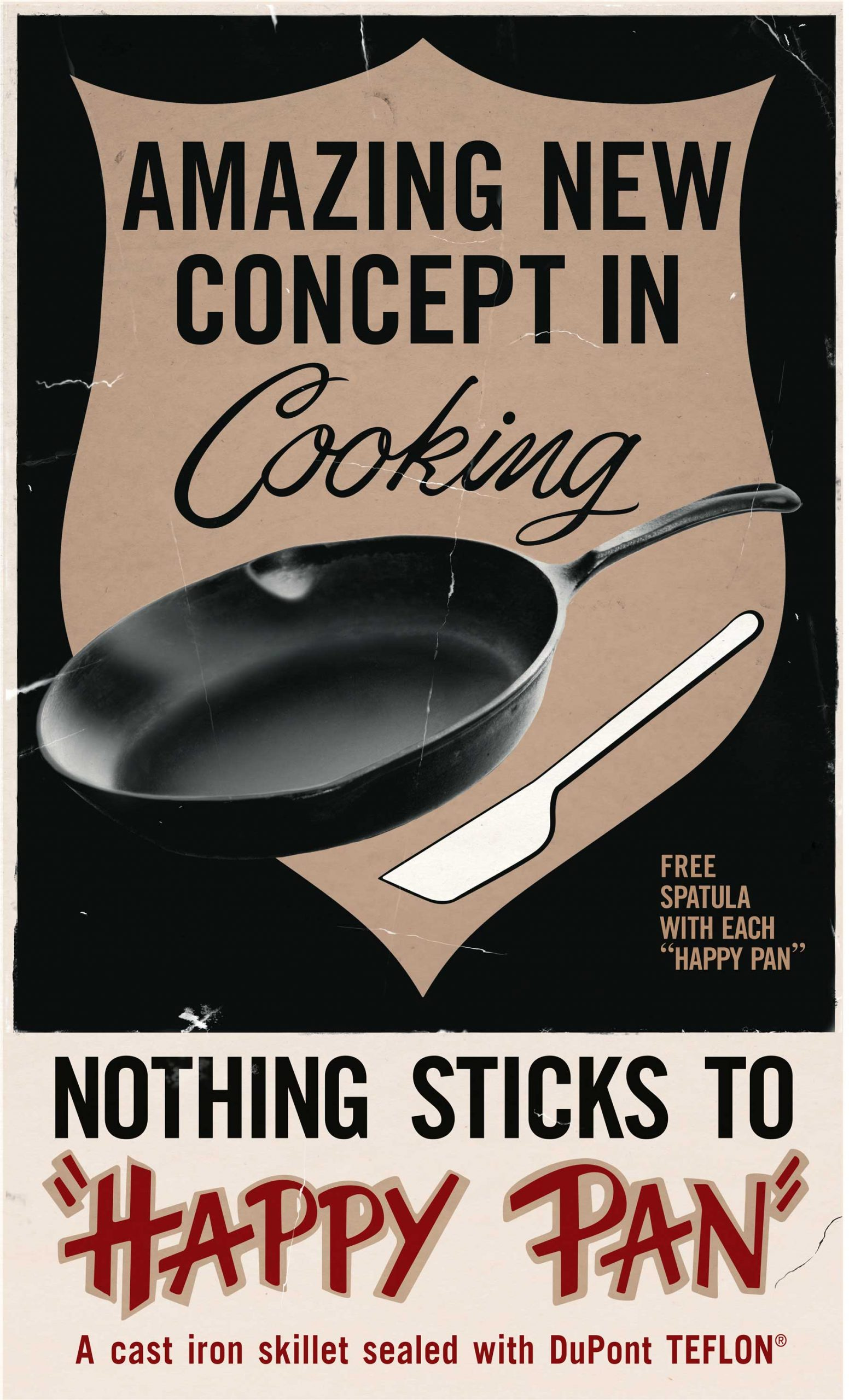 Advertisement for a Teflon-coated pan from the 1960s