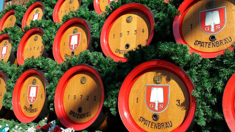 Oktoberfest Beer Barrels
