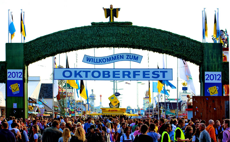 Main entrance to Oktoberfest