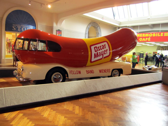 Oscar Meyer Mobile in Henry Ford Museum