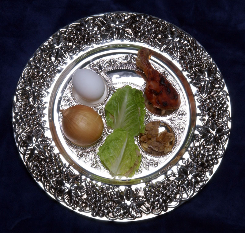 Seder appetizer plate