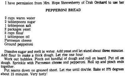1970s Pepperoni Bread recipe
