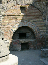 Bread oven at Pompeii