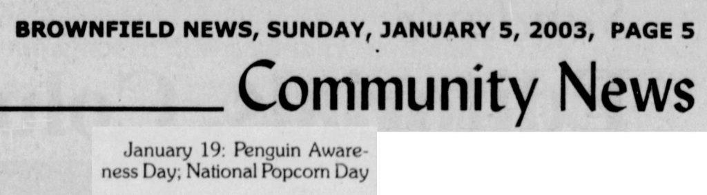 Popcorn day 2003