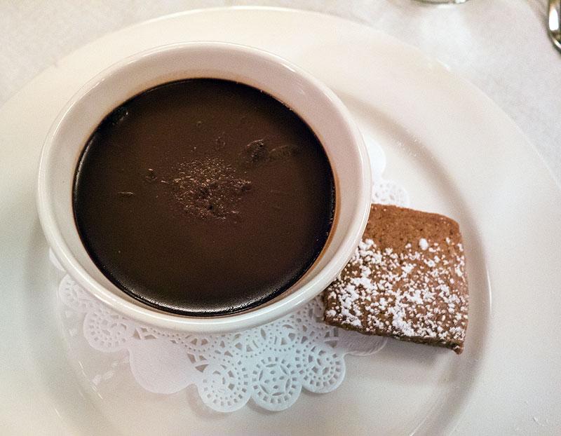 Pot de crème chocolat