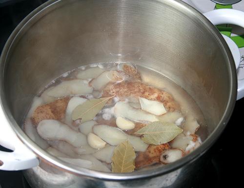 Potato Peel Stock: Ready to cook